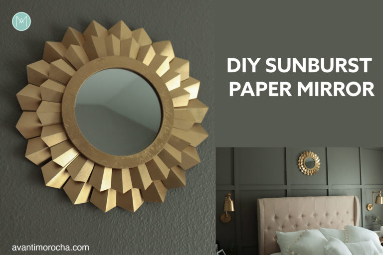 DIY Sunburst Paper Mirror