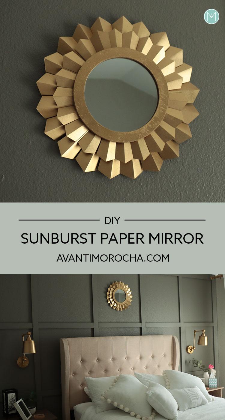 DIY Sunburst Paper Mirror