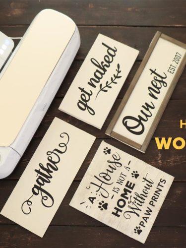 Cricut| Cameo DIY Wood Signs – Señales en Madera