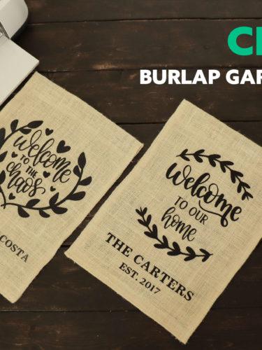 DIY Burlap Garden Flags – Banderitas de Yute