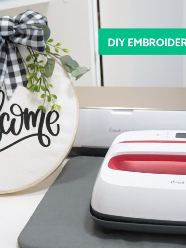 Cricut Iron-On  Embroidery Hoop Wreath