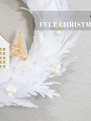 Cricut DIY Felt Christmas Wreath
